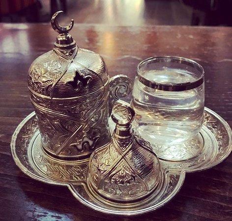 Turkish coffee at Damascena