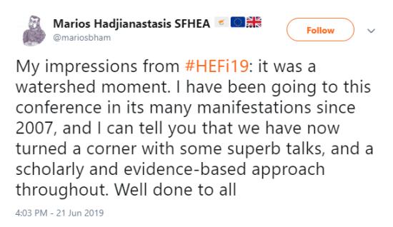 HEFi 2019 @mariosbham