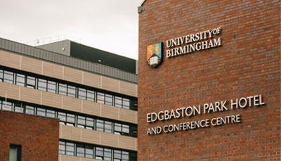 University of Birmingham | Edgbaston Park Hotel sign