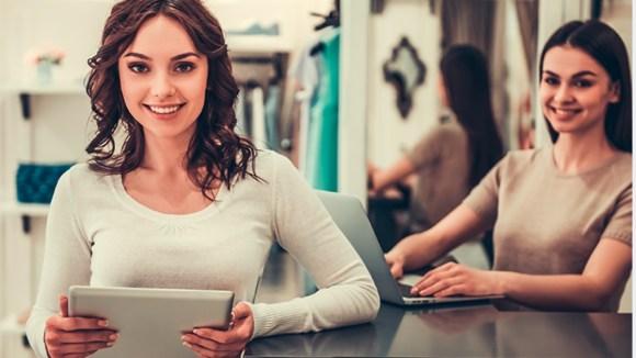 Female online shopping