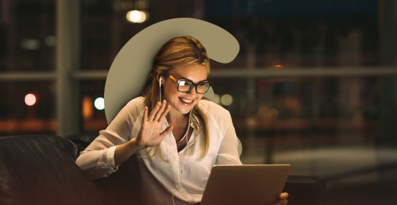 woman who is part of retail team being trained on video calls