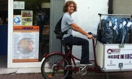 Consegne in bici: Gabriele ci prova
