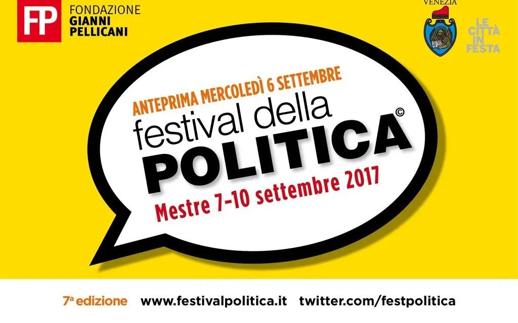 Festival della Politica: dal 7 al 10 settembre a Mestre