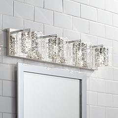 Light fixture bathroom spring cleaning