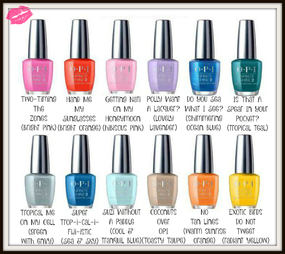 Opi Figi Collection 2017 Spring Summer Nail Polish