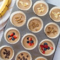 Healthy Banana Oatmeal Blender Muffins