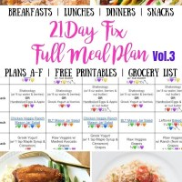 21 Day Fix Meal Plan Vol. 3 {All Meals | All Brackets | Free Printables}