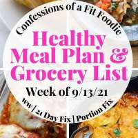 Meal Plan & Grocery List {Week of 9/13/21} | 21 Day Fix Meal Plan | WW Meal Plan