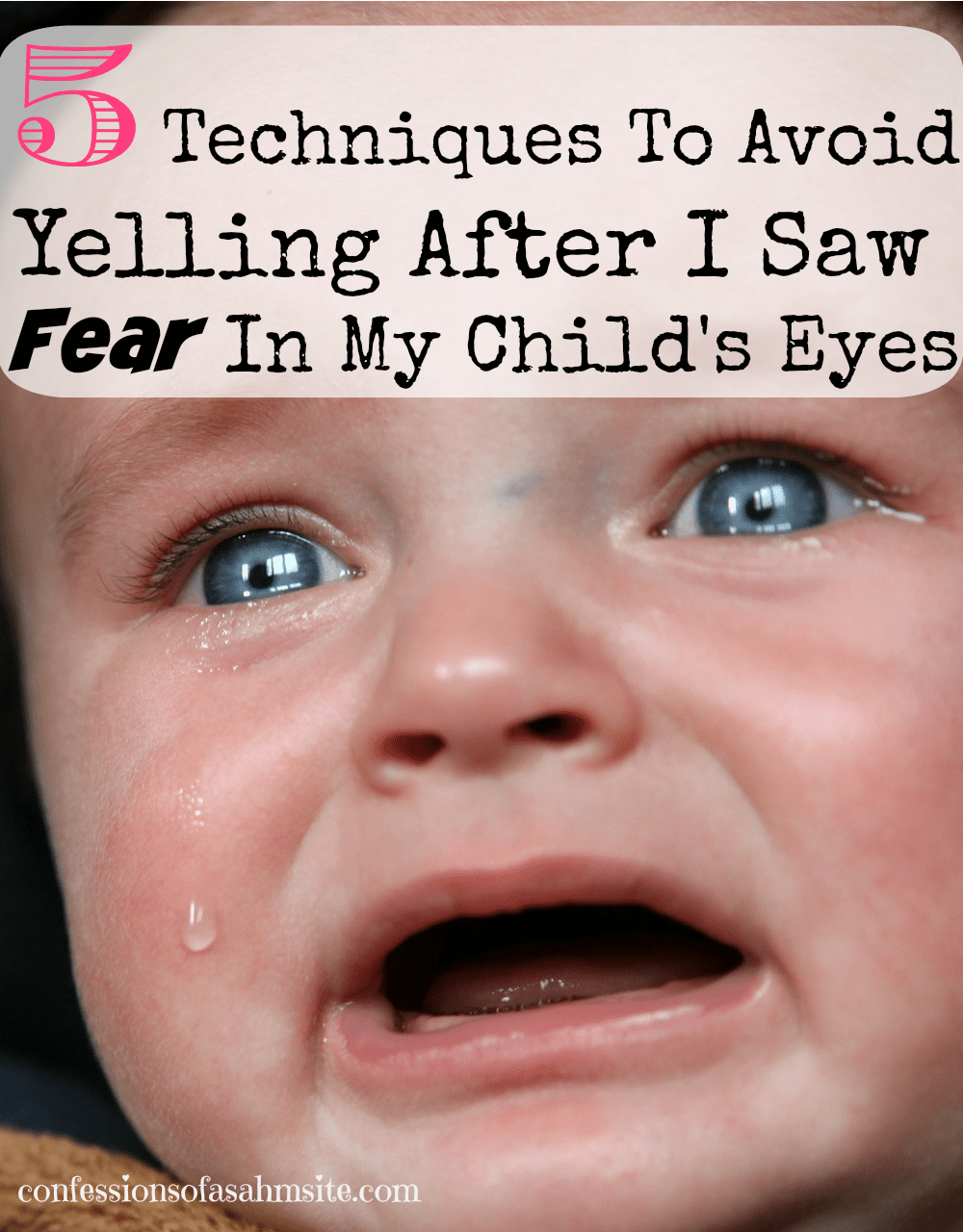 5 Techniques to Avoid Yelling after I saw fear in my child's eyes. Great techniques provided in this article. I loved tip number 3 as sometimes I forget to use it.