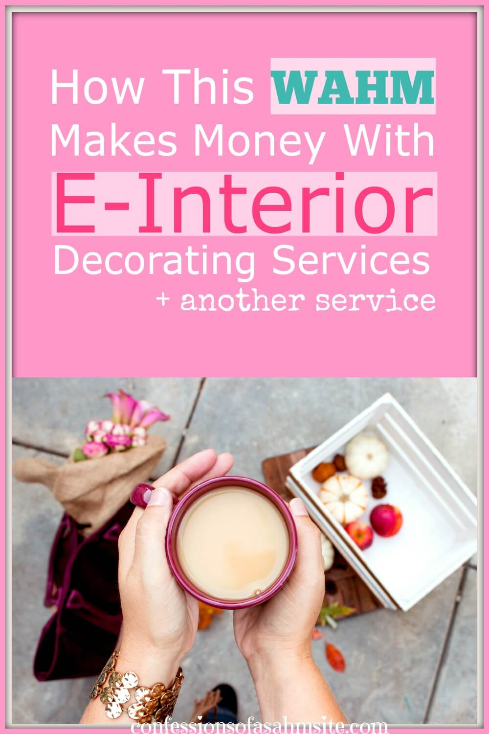 Feature Friday: How this WAHM makes money with E-Interior decorating services plus another service. Ever thought of making money by providing interior decorating services but reach thousands of people far from your home area? Read this WAHM's story to learn how she did it.