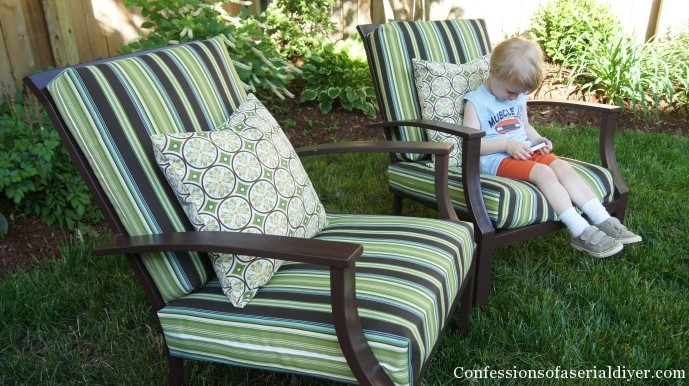 Sew Easy Outdoor Cushion Covers {Oldie, But Goodie