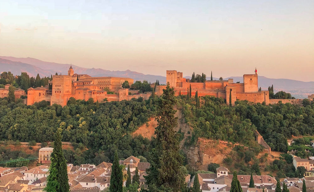 Andalusia, Spain Confessions of a Travaholic Alhambra at sunset