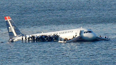 "On January 15, 2009 US Airways flight 1549 from New York La Guardia to Charlotte struck a flock of birds shortly after take off and lost power to both engines. Under the command of Captain Chesley 'Sully' Sullenberger the Airbus A320 managed to successfully ditch in the Hudson River. All 150 passengers and 5 crew members escaped with only minor injures. New York's Governor Paterson described it at the time as ""the miracle on the Hudson""."