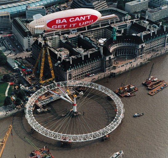 Virgin has never been one to shy away from a little tongue-in-cheek mockery of its rivals and this was a classic, ahead of BAs launch of the London Eye.