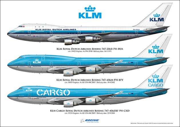 In February 1971, KLM entered the wide-body age, with the introduction of the iconic Boeing 747. They would later go on to fly the 200, 300 and 400 versions, with the latter still in operation today.
