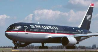 In 1997 the airline changed its name to US Airways and carried out a massive re-branding which included a new livery for its fleet seen here on one of its fleet of Boeing 767-200 aircraft.