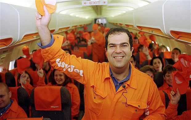 In the early years, Sir Stelios was instrumental to the carriers success. The flamboyant and often controversial owner was a hit with easyJet passengers, often giving out free drinks, snacks and flights. But for management of other airlines he was a nightmare. At the launch of the new British Airways low-cost airline Go, Stelios and his team turned up in orange boiler suits and handed out free easyJet flights to all of Go's passengers, including the carriers CEO Barbara Cassani.