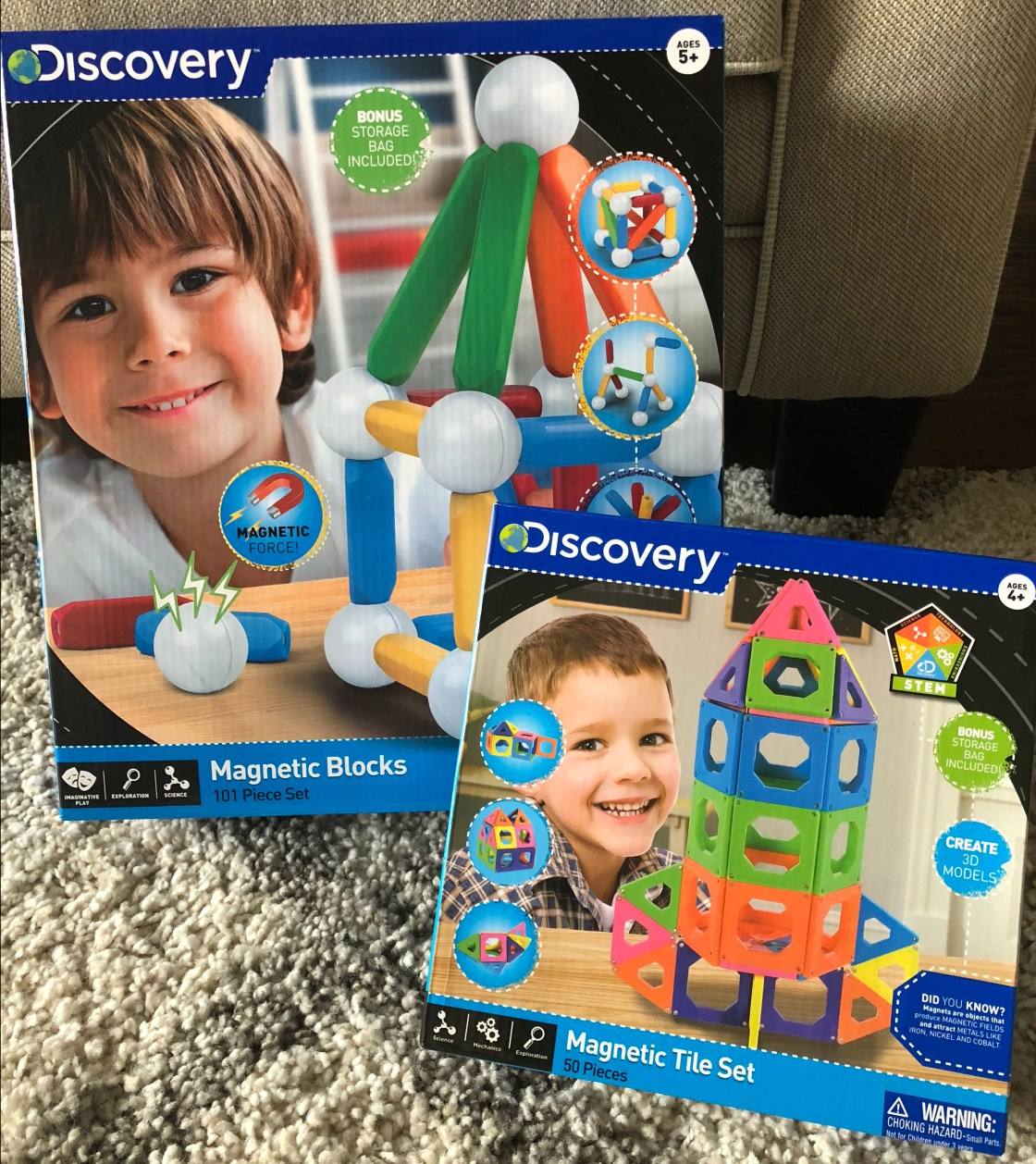 Discovery Magnetic Blocks and Magnetic Tiles