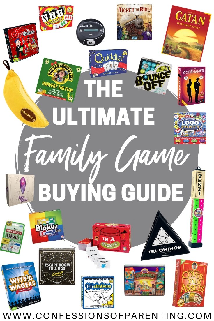 Are you looking for the perfect family gift? We made the ultimate family game buying guide just for you! It has the most fun games for families!