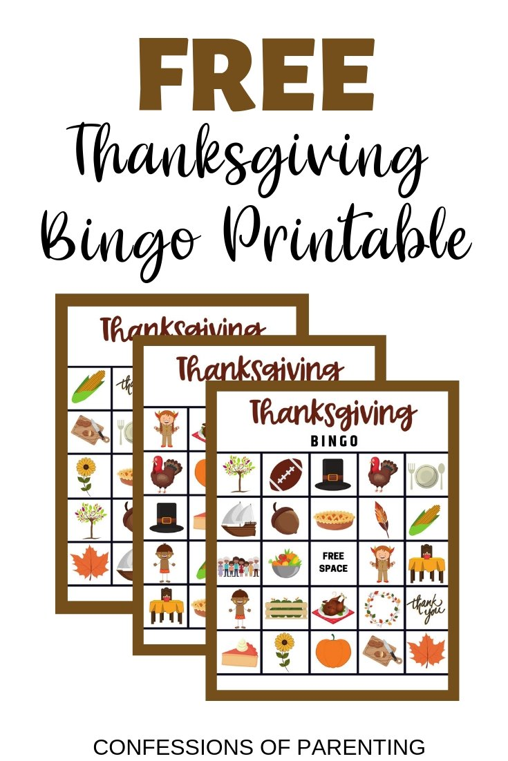 picture relating to Thanksgiving Bingo Printable named Cost-free Thanksgiving Bingo Sport - Confessions of Parenting