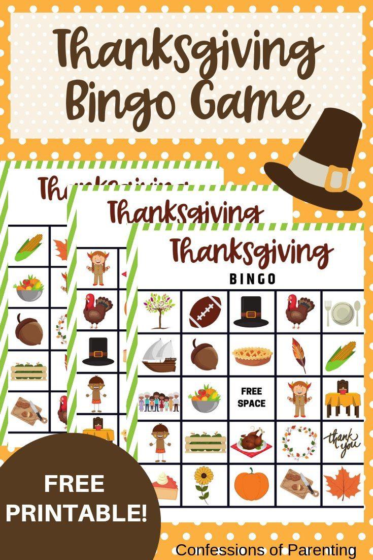 Thanksgiving Bingo Game (1)