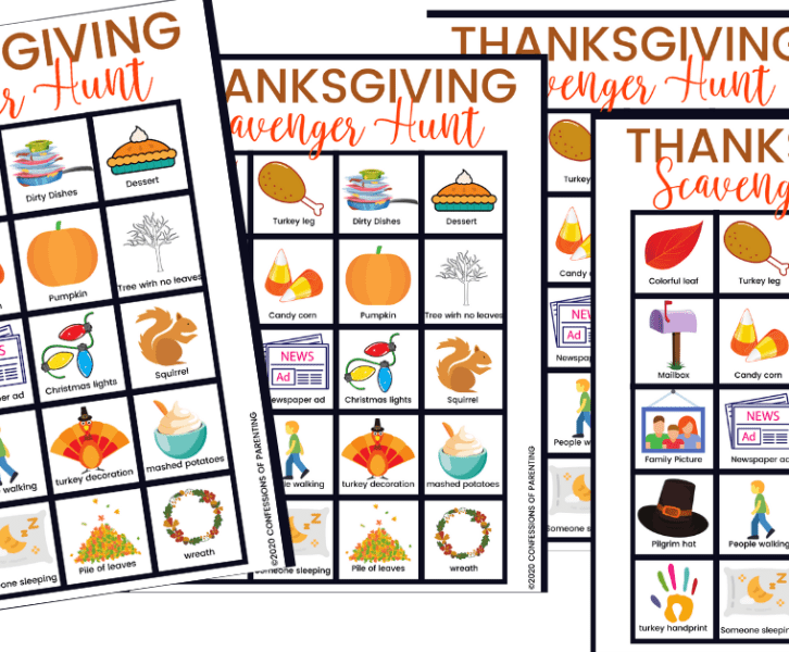 Are you looking for a fun family activity for Thanksgiving day? We have a fun Thanksgiving Scavenger Hunt plus a free printable that your whole family will enjoy!