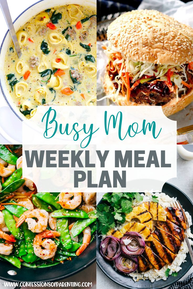This weekly meal plan is a combination of easy and delicious combined together! It is perfect for busy families that are looking for simple meals for the on the go family!