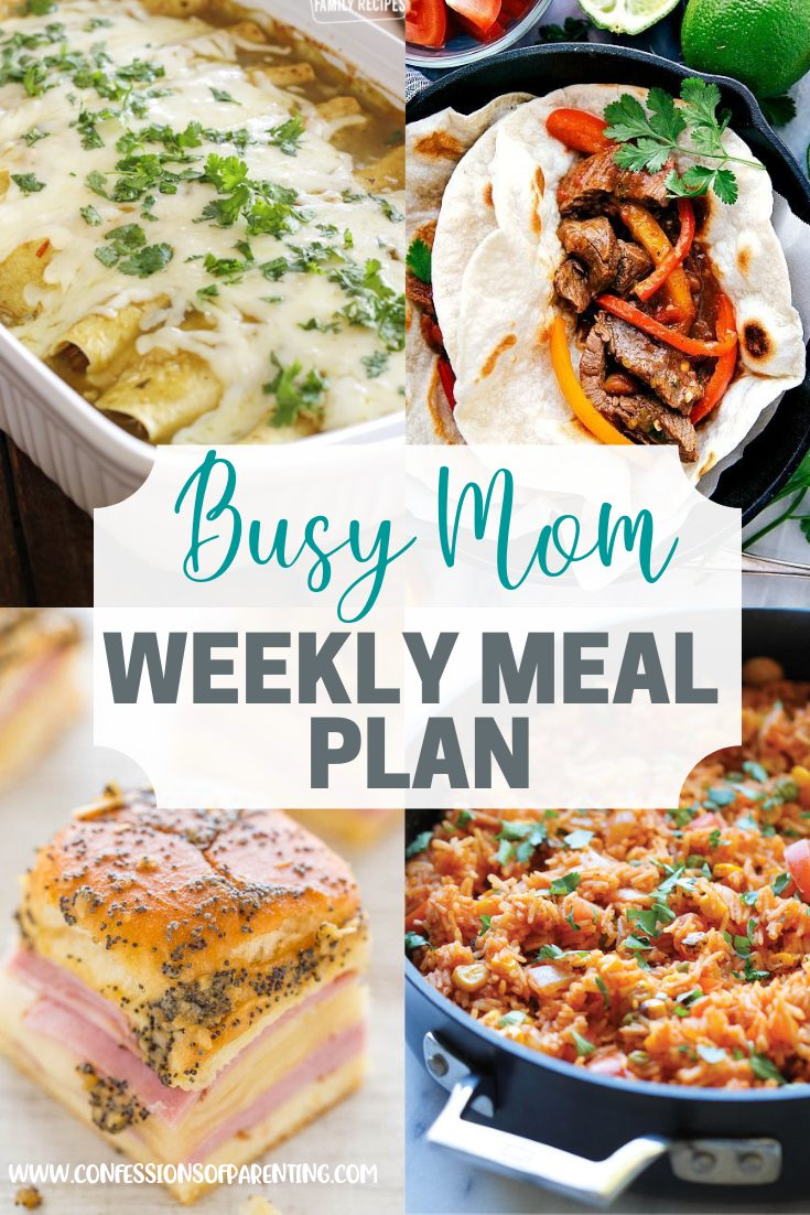 Dinner time is always a struggle, but we're here to help! This easy weekly meal plan for every family will take the stress out of dinner time!