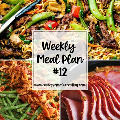 Are you in a dinner time rut? With the no sweat weekly meal plan for families has you covered with easy and delicious recipes for your family!