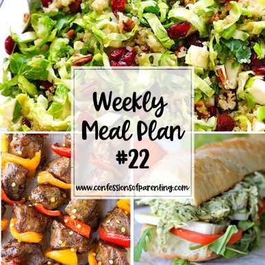 Dinner time can sometimes be a total pain, especially figuring out what's for dinner. Luckily, we have this painless weekly meal plan for families!