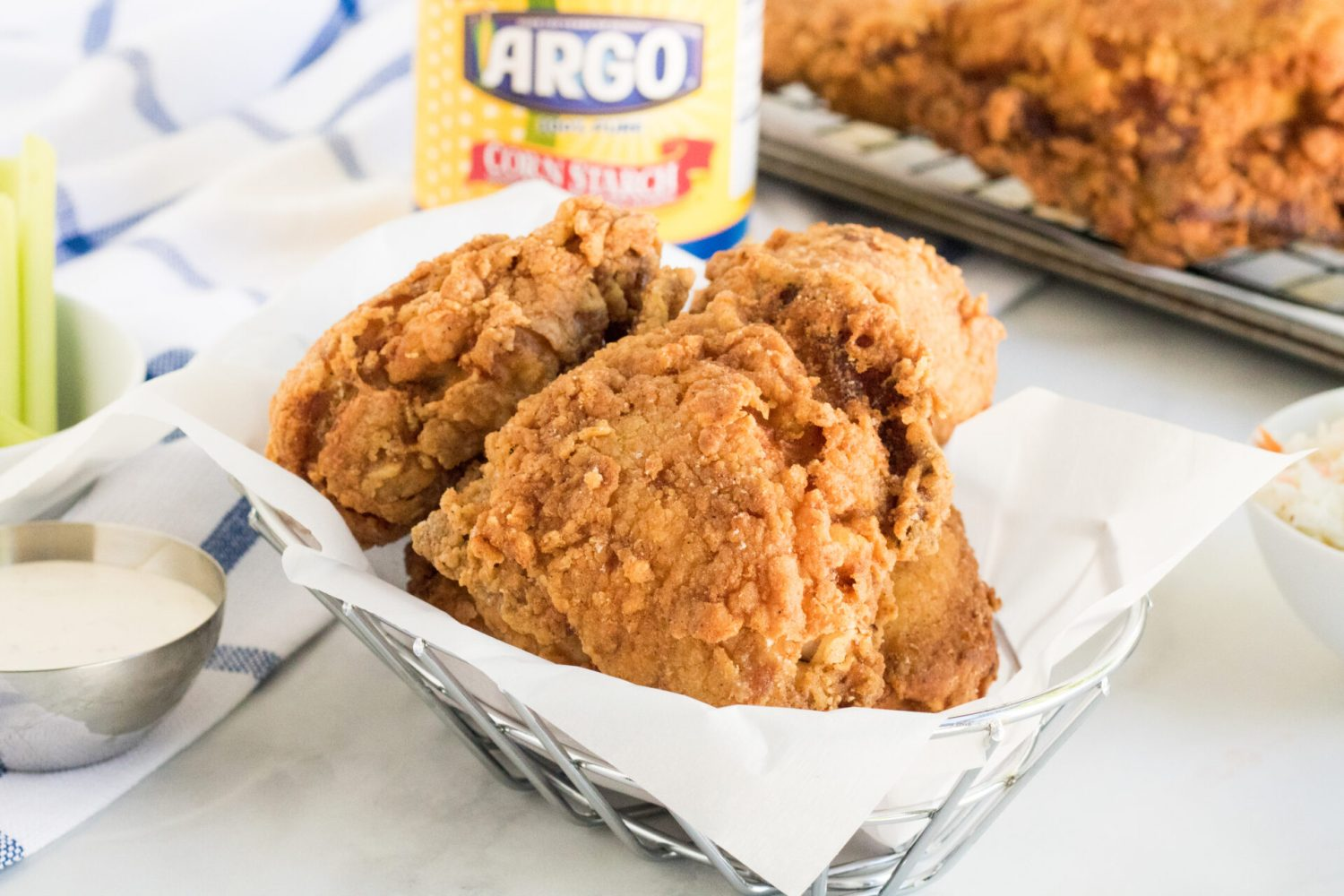 Looking for the crispiest southern fried chicken? Look no further because we're sharing our secret ingredient to make the crispiest chicken!