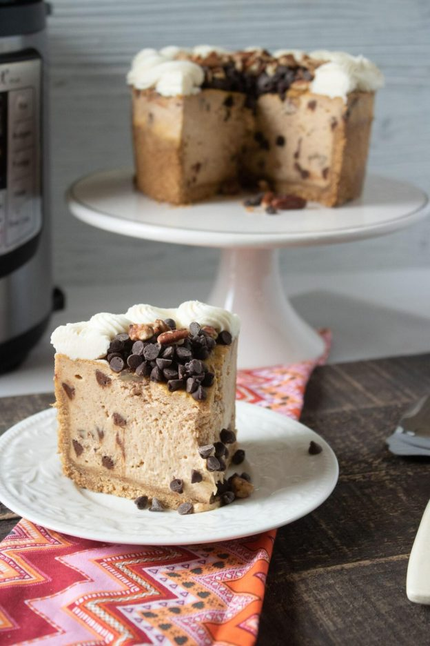 With this Instant Pot Pumpkin Cheesecake with Chocolate Chips and Pecans *optional your taste buds are going to go wild! Check out how easy it is to make today