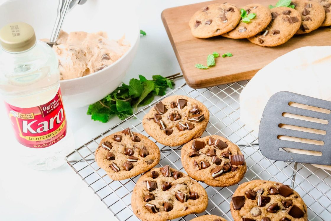 Craving a chewy mint chocolate chip cookie or even a regular chocolate chip cookie? We are sharing our secret mint chocolate chip cookie recipe that is so good.