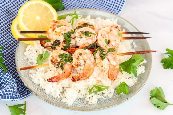 Lemon Garlic Herb Grilled Shrimp
