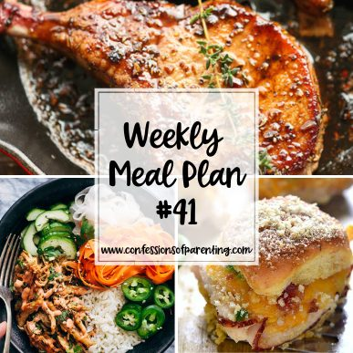Moms have lists a mile long, dinner being one of those things. Let our weekly meal plan for moms with hectic lives help you out! Cross dinner off the list