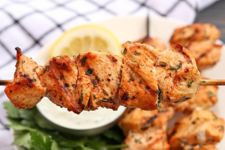 Grilled Lemon Herb Chicken Skewers
