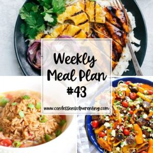 Knowing what's for dinner can get you through the day. It's even better when someone else planned it. Let the weekly meal plan for determined moms plan for you!