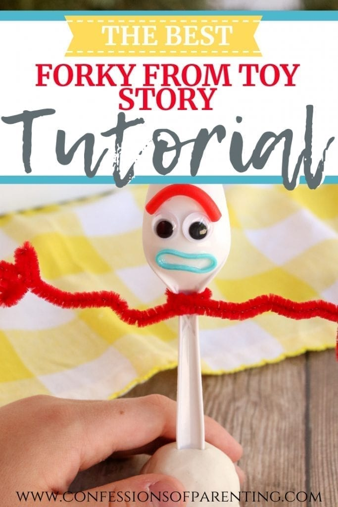 This a how to make Forky from Toy Story tutorial. You & your kids will be able to make your own inexpensive Forky from Pixar's Toy Story 4 in under 15 minutes.