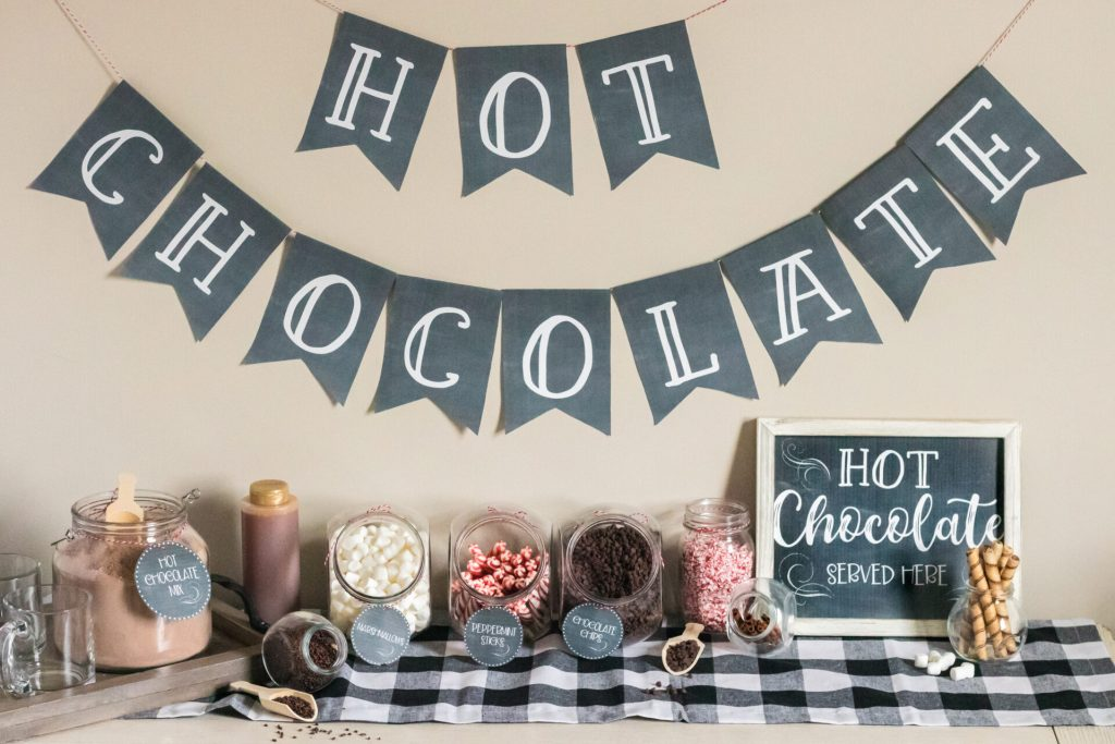 full picture of hot chocolate bar