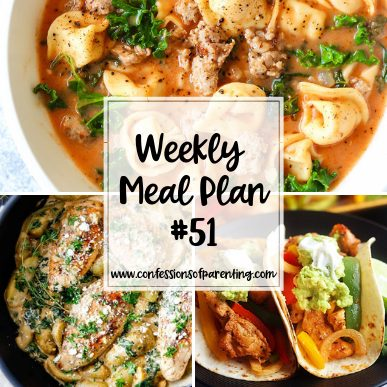 As moms, we'd love more time with our kids, but dinner prep and planning can get in the way. Our weekly meal plan for engaged moms can give you back that time!