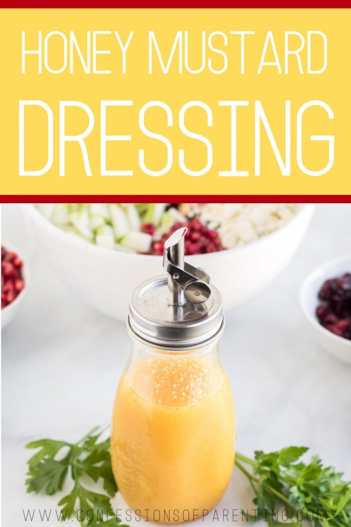 honey mustard dressing recipe pinterest image