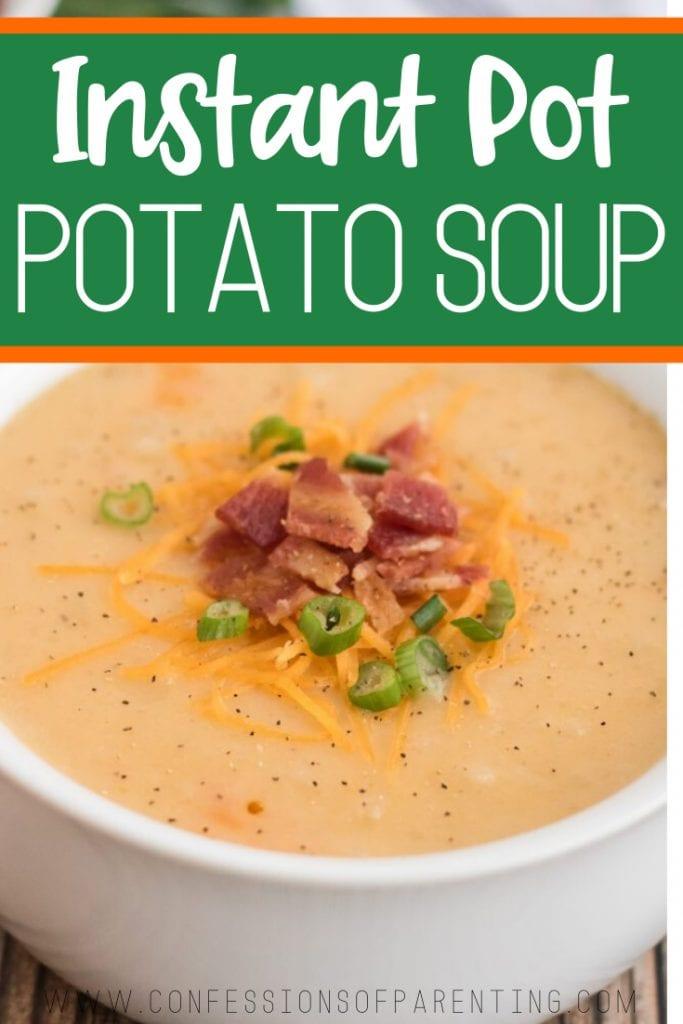 instant pot potato soup pinterest pin