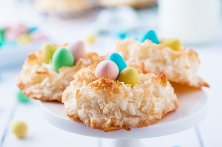 Coconut Macaroon Easter Nests