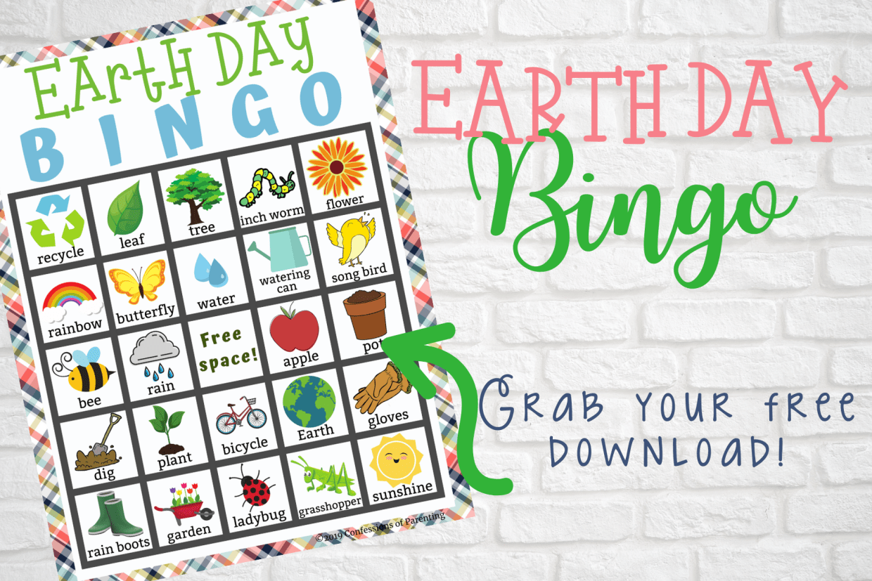 Grab this fun and free Earth Day Bingo free printable! This Earth Day Bingo game is the perfect way for you to talk with your kids about Earth Day!