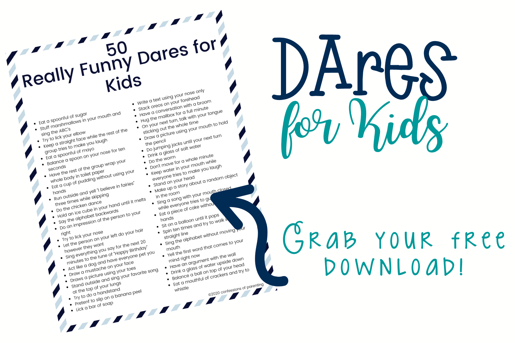 Are you looking for really funny dares for kids that are actually appropriate for kids? We have over 50 of the best dares for kids that they will love doing and that are kid-friendly!