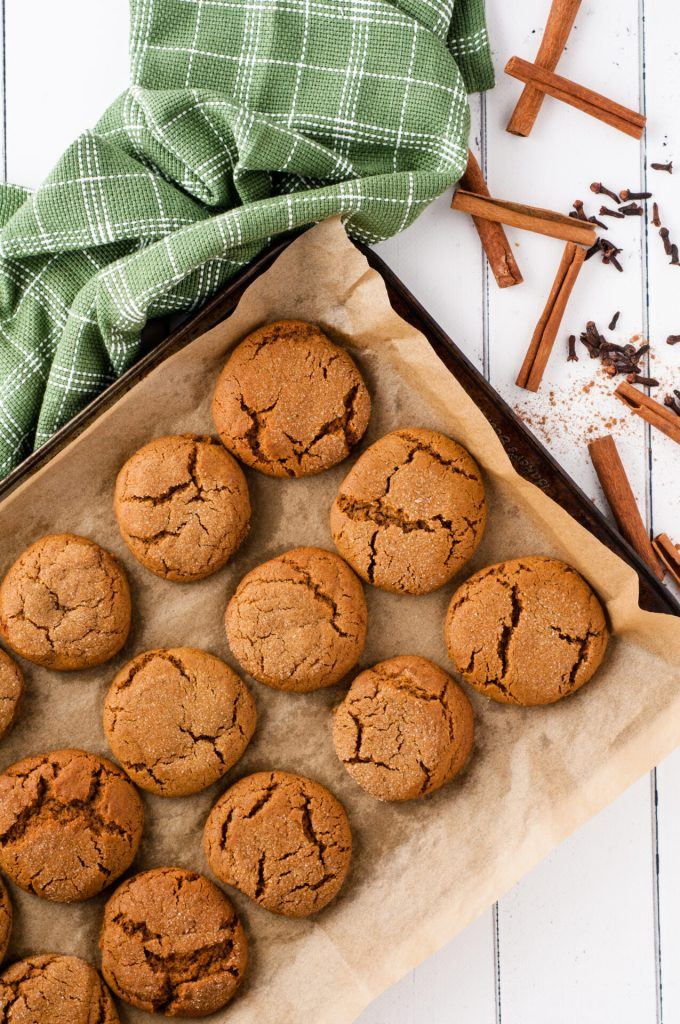 You can't have a holiday season without some delicious old fashioned gingersnaps. This recipe is perfect for events, gifts, and snacking at home!