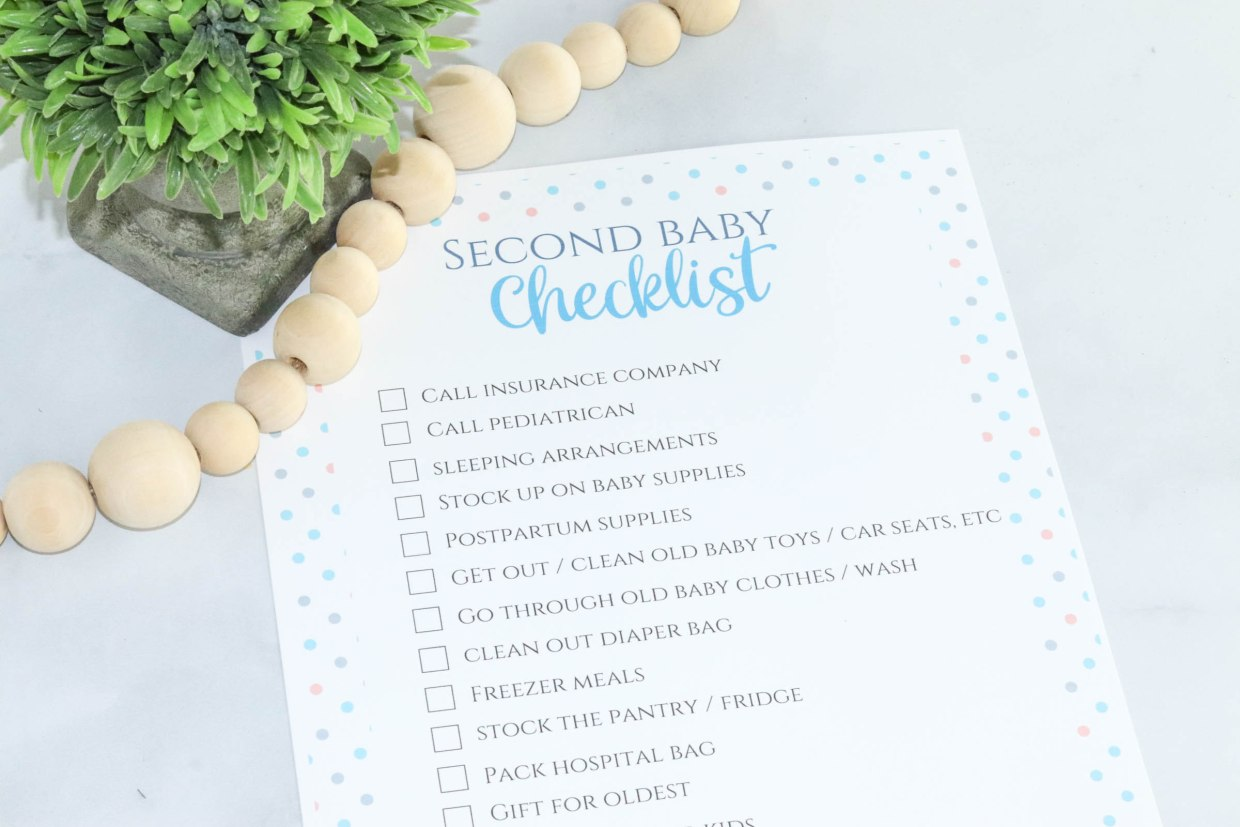 Is baby number 2 on the way? Help plan with this second baby checklist that has everything you need to do before your baby arrives!