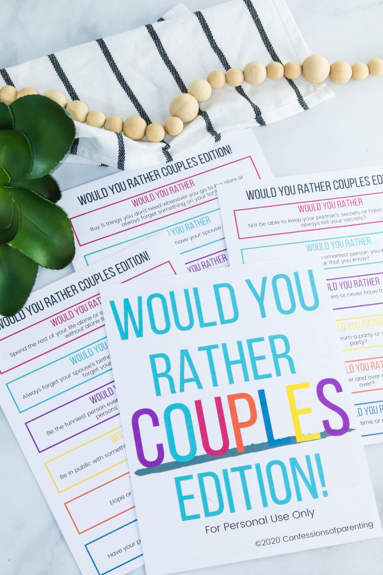 Spice up your daily routine with these fun Would You Rather Questions for couples. Would You Rather is the perfect game for the next in-home date night with your spouse.