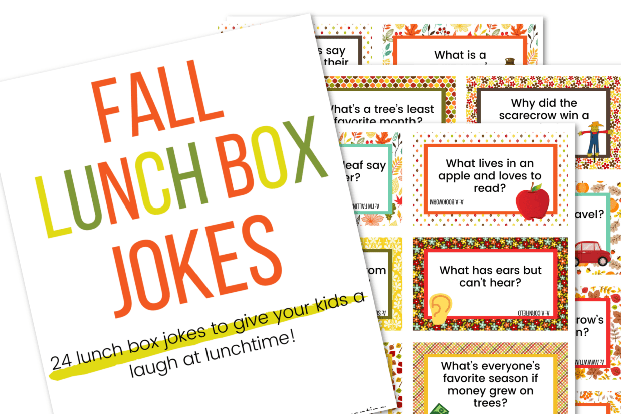 picture of the fall lunch box jokes printable cards