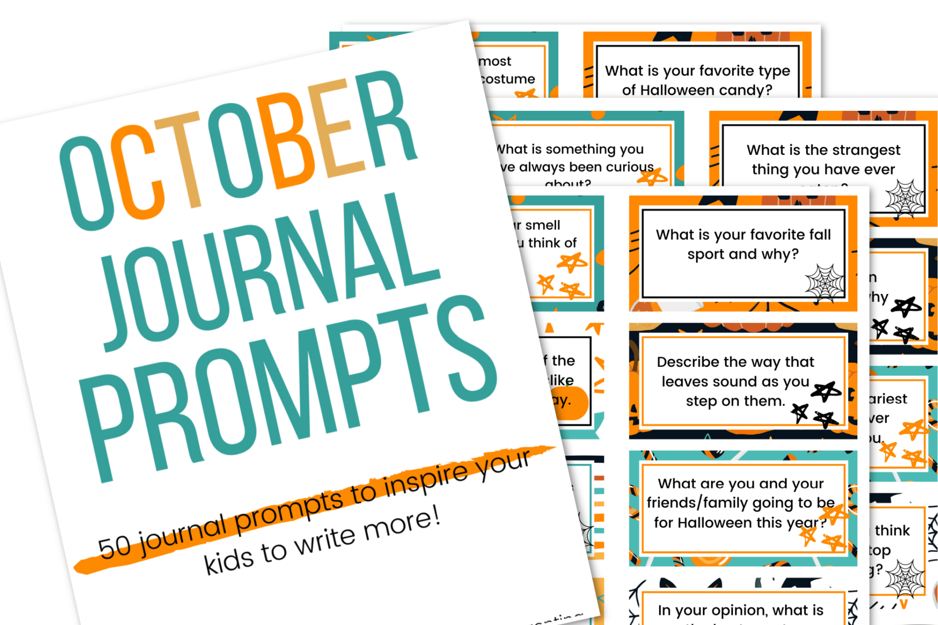 picture of the October writing prompts